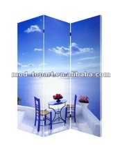 2012 new design stretched canvas room dividers