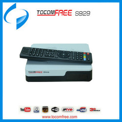 2016 FTA satellite receiver tocomfree s929 with iks sks free and support iptv for South America