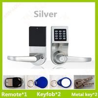 Smart card digital door lock with code and remote control unlock function