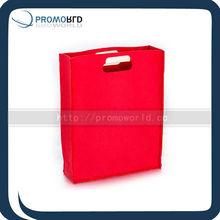 Felt shopping bag red color Book carry shopping bag heavy carry