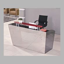cool and fashion 12mm tempered glass reception table