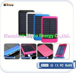 solar charger iphone 5000mAh with LED indicator, China manufacturer