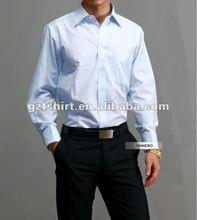 cotone uomini camicia bianca
