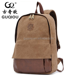 2015Hot sale latest design new style fashion colorful canvas backpack