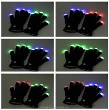 led gloves as gifts/7 Mode Rave Light Finger Lighting Flashing Glow Mittens LED\ Hand Gloves
