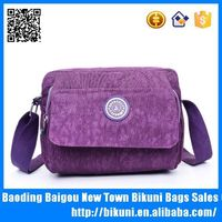 Best sales small nylon washed cross body shoulder side bag for girls