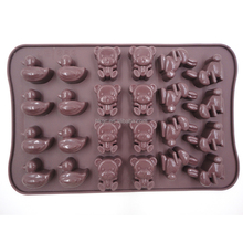 Hot Sales rabbit bear duck shape 3D silicone chocolate mold