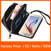Fashion Design PU Leather Wallet Flip Zipper Full Body Protector Card Holder Case Skin with Detachable Design For Samsung S6