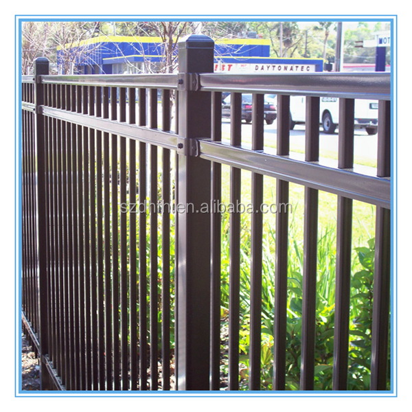 Gates and steel fence design galvanized steel fence panels for Anti phosphate piscine