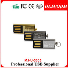 2014 128MB to 64GB Capacity Metal Mini USB Flash Stick Memory, Customized Packaging Types/Logos Accepted