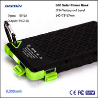 Green Products From China For Buyers Consumer Electronics Solar Power Bank Pack Geedin S80