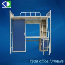 Post Steel Bilayer Bed Desk Combination For Documents
