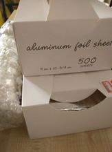 "9"" x 10.75"" Aluminum Foil Interfolded Pop-Up Sheets Food Wrap USA"