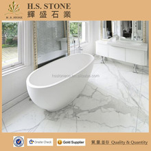 Italian white marble Statuario white marble floor design bathroom tile/carrara white marble