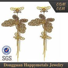 2015 Trendy Custom Shape Engraved Earrings Woman Dangler