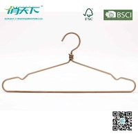 Betterall Rose Gold Metal Wire Hangers for Dry Cleaners