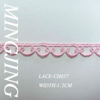 LACE-CH037 Pink tiny polyester lace