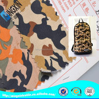 schoolbag material 8oz canvas camouflage cotton fabric