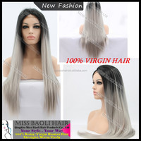 Alibaba Trade Assurance Paypal Accepted Factory Price No Shedding Tangle Free Professional Fashion Grey Hair Wigs For Women