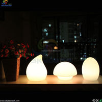 small decorative lamp pe plastic funky color changing magic egg