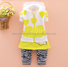 All the love of small and medium-sized infants girls pull chain two-piece outfit fashion autumn sets