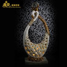 europeo creatividad un par de cisne decoración de mesa o decoración regalo lámpara de cisne