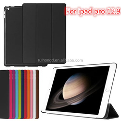 Luxury Folding Stand Flip Leather case for ipad pro 12.9 inch