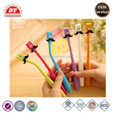 cartoon mustache ballpoint stationery curved plastic ball-point pen new wholesale