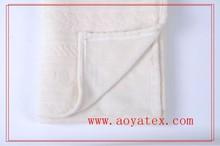 ATAYA NEW Pure Color Fleece Upgrade Farley Blanket Solid Embossed Flannel Fleece Blanket