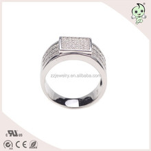 Shiny Diamond New Model Jewelry 925 Sterling Silver Ring