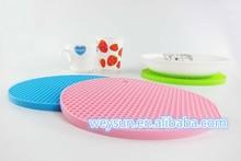 round silicone trivet mat heat resistant pan holder