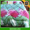 washable quilt wholesale china / bed comforter set 3d / polyester fiber filled duvet