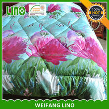 washable quilt wholesale china / bed comforter set 3d / polyester fiber filled duvet