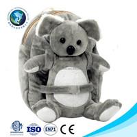 2015 Best kids toy grey koala bear plush toy gift cute soft stuffed plush koala bag