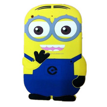 china supply hot selling 3D minion silicone for ipad mini, for ipad mini silicone case