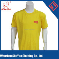 Promotional cheap wholesale custom 65 polyester 35 cotton t shirt, cotton polyester t shirt
