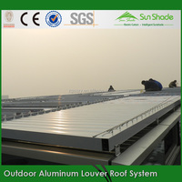 Green House Automatic Water Proof Louvered Roof/motorized louvers