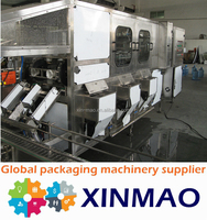 Automatic SUS304 5 gallon bottle washer /jar capping machine
