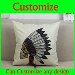 Custom made blank cotton hold pillow case