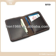 Top RFID quality handmade mini men's leather wallets made in China