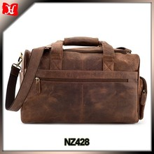 Crazy horse leather square Travel bag Vintage Style Weekender Sports Bag Remarkable travel bag