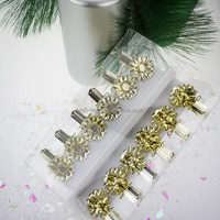 Mini flower shape Candle holder with clip Metal Candle Holder