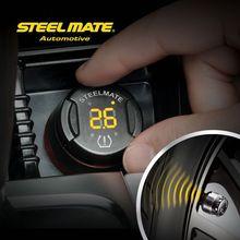 Hot sell steelmate TP-70 B wireless DIY tpms cap motorcycle,tire pressure monitoring with 18 sensors, air pressure tester