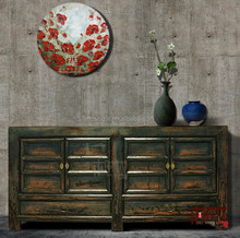 [MSD] Living Room Sideboard Chinese antique furniture Chinese colorful Buffet Locker classical cabinet High gloss furniture