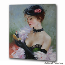 Impression oil paintings of girls pictures sexy