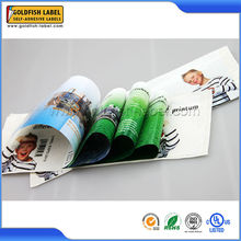 High quality leaflet pvc labels , selfadhesive pages label