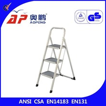 3 step Folding Step Stool ladder with mat AP-1303P