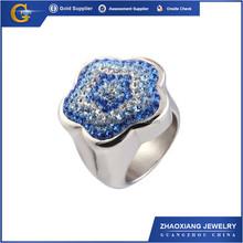 CCR0905 Fashion design diamond rings gold plated finger rings