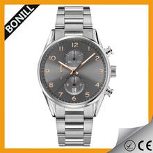 Unisex watch with metal case alloy steel straps cheap metal watch geneva