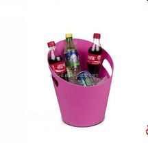 Cheap stainless steel/plastic shell double walls ice bucket/wine cooler/beer tube with customized color